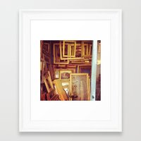 frames Framed Art Prints featuring Frames by SarahS