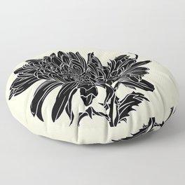 Black Chrysanthemum Floor Pillow