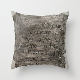 Hebrew 10:34 Throw Pillow