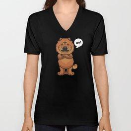 Stubborn Chow Chow Dog funny Unisex V-Neck