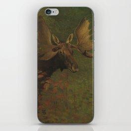 Vintage Painting of a Bull Moose iPhone Skin