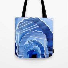 Amber Fort Arches Blue Mood Tote Bag
