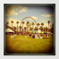 coachella Canvas Prints featuring Coachella by Jason Chase