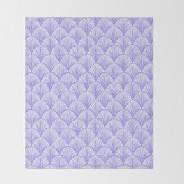 Periwinkle Scales Throw Blanket
