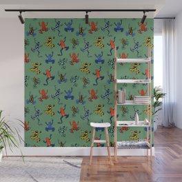 Digital Dart Frogs Wall Mural