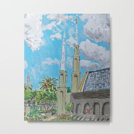 Johannesburg South Africa LDS Temple Metal Print