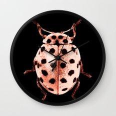 Insecte rose et noir colors fashion Jacob's Paris Wall Clock