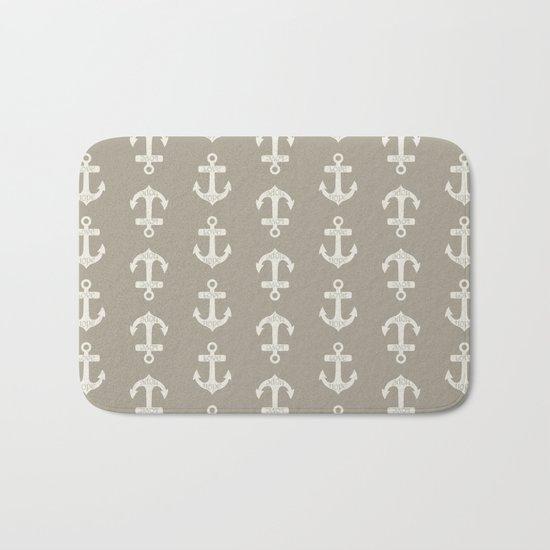 Anchor Alabaster Blue Gray Bath Mat