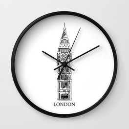 """ Travel Collection "" - London Print Wall Clock"