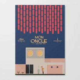 Mon Oncle - Jacques Tati Movie Poster, classic French movie, old film, Cinéma français, fun, humor Canvas Print