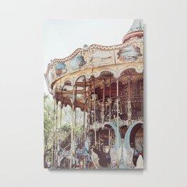 Paris Carousel Metal Print