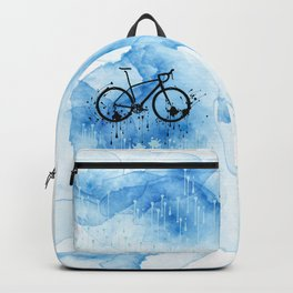 watercolor bicycle Backpack