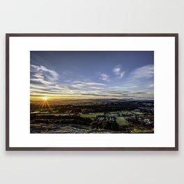 Sunset on Mount Doug Framed Art Print