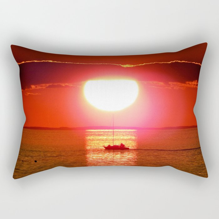 Sailboat Holds the Sun Rectangular Pillow