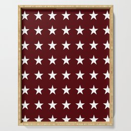Stars on Maroon Serving Tray