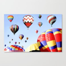Balloons In The Sky - Painting Style Canvas Print