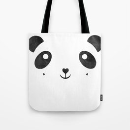 Panda, black and white panda face Tote Bag