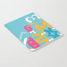 Blue Arabic Notebook