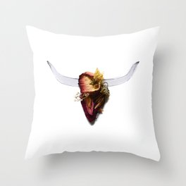 History In Bloom Throw Pillow