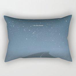 "Jack Kerouac ""On the Road"" - Minimalist literary art design, bookish gift Rectangular Pillow"