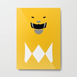 Power Rangers - Yellow Ranger Minimalist Metal Print