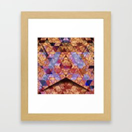 Triangles at Night Framed Art Print