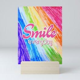 Smile Everyday, Crayon Colors, Kids Crayon, color splash, Mini Art Print