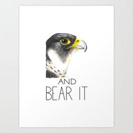 Peregrine And Bear It Art Print