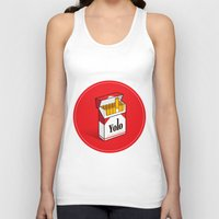 cigarettes Tank Tops featuring YOLO Cigarettes  by RJ Artworks