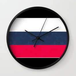 Striped , black , blue , red, white Wall Clock