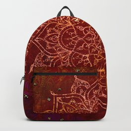 Rust Red Mandala Backpack