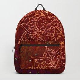 Rust Red Mandala Backpack