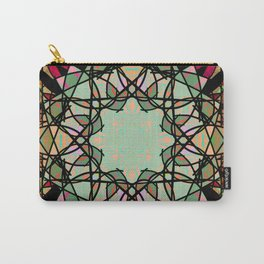 Ornate Tweed and Sage Mandala Rug Carry-All Pouch