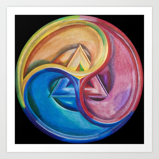 Primary triangle Art Print