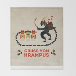 Gruss vom Krampus Throw Blanket