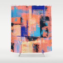 Canvas Abstract Uno Shower Curtain