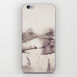 Lying on the bed. Nude studio iPhone Skin