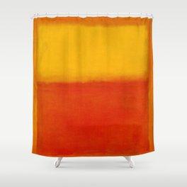 1956 Orange and Yellow by Mark Rothko HD Shower Curtain