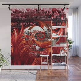 Jamaican Wave Abstract Wall Mural