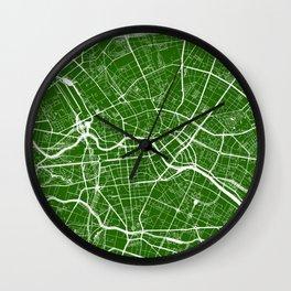 Green City Map of Berlin, Germany Wall Clock