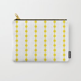 Geometric Droplets Pattern Linked - Summer Sunshine Yellow on White Carry-All Pouch