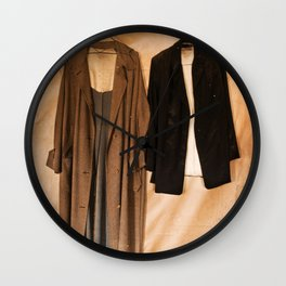 Hanging Jackets Wall Clock