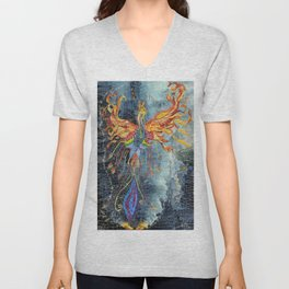 The Phoenix Rising From the Ashes Unisex V-Neck
