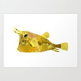 Yellow yellow boxfish Art Print