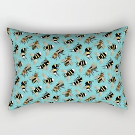 Bees and More Bees Rectangular Pillow