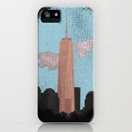 Grunge Freedom tower NY iPhone Case