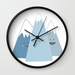 Happy Mountains Wall Clock