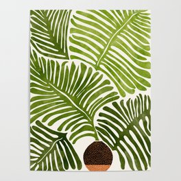 Summer Fern / Simple Modern Watercolor Poster