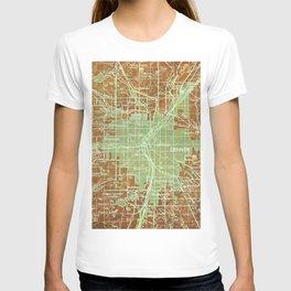 12-Denver Colorado 1958, America cities maps T-shirt