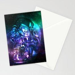 vaporwave skull Stationery Cards